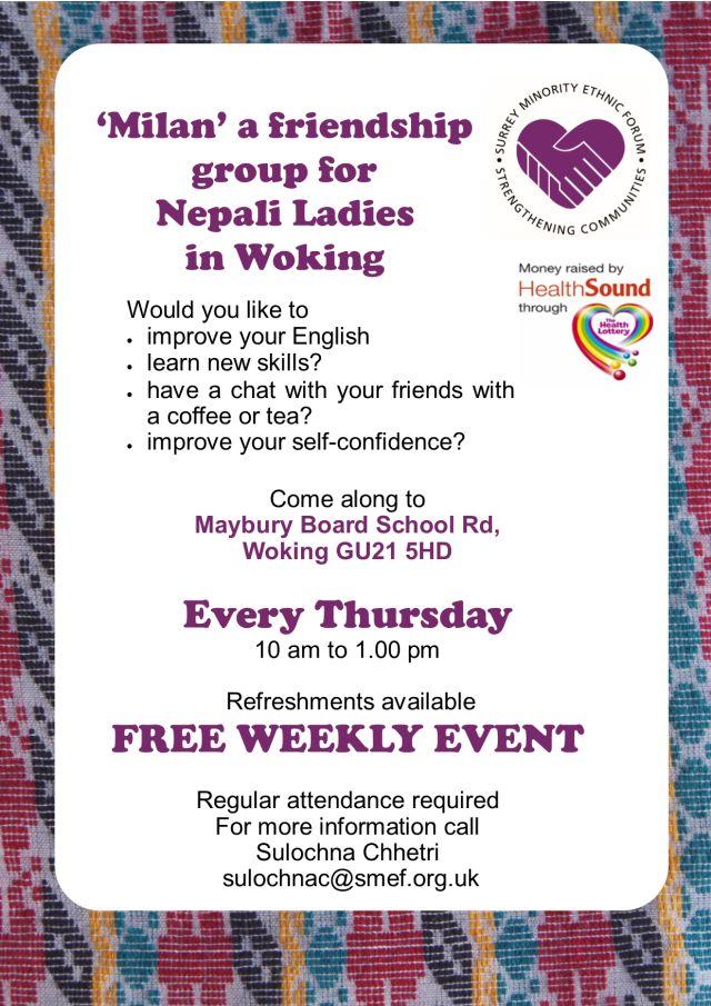 Milan' a friendship group for Women in Woking – Surrey Minority